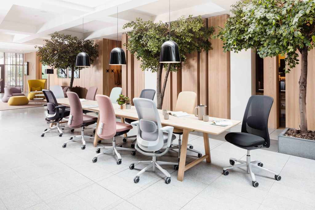 Hag Sofi Chairs with a conference table by Crayfourds