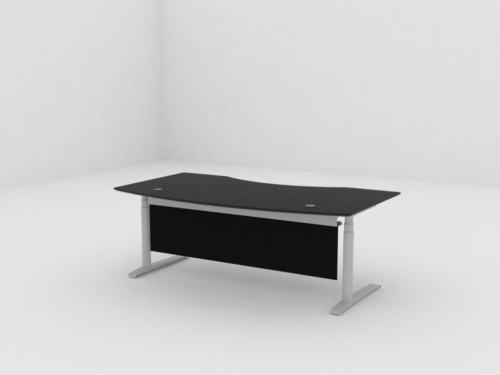 Cube Quadro sit stand desks by Crayfourds