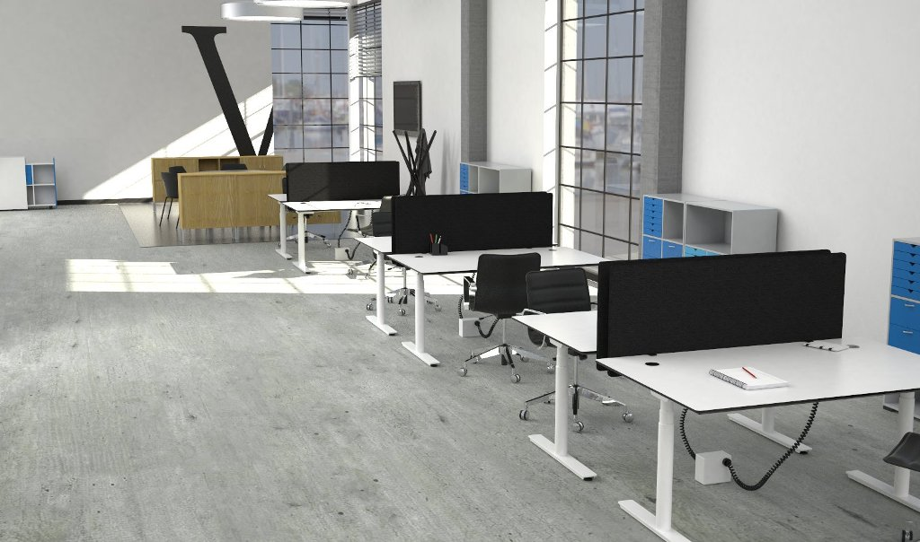Cube Flow Sit Stand Desks by Crayfourds